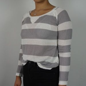 Rag and Bone Intermix Gray Striped Sweater